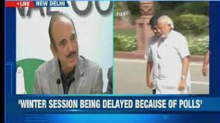 Congress hits out at Centre, says winter session being delayed because of polls - NEWSXLIVE