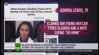 Playing the Victim: Woman charged for fabricating story about Trump-related hate crime - RUSSIATODAY
