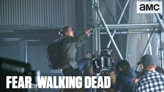 'Walker Zip Line' Behind the Scenes Ep. 406 | Fear the Walking Dead - AMC