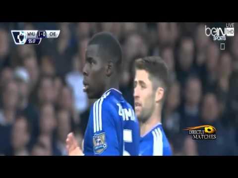 اهداف مباراة تشيلسي ووست هام 1 2 كاملة 2015 10 24 علي محمد علي HD