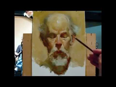 Yağlı boya portre çalışması by Zimou Tan