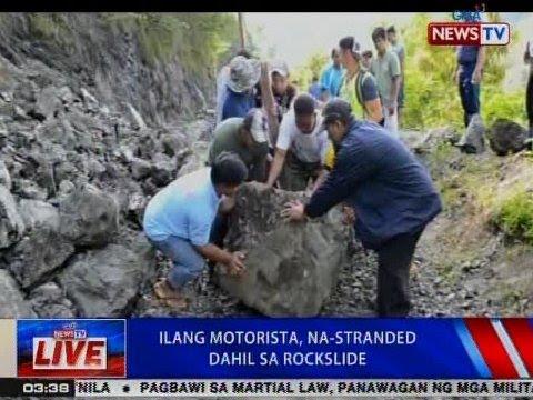NTVL: Ilang motorista sa Bontoc, Mt. Province, na-stranded dahil sa rockslide