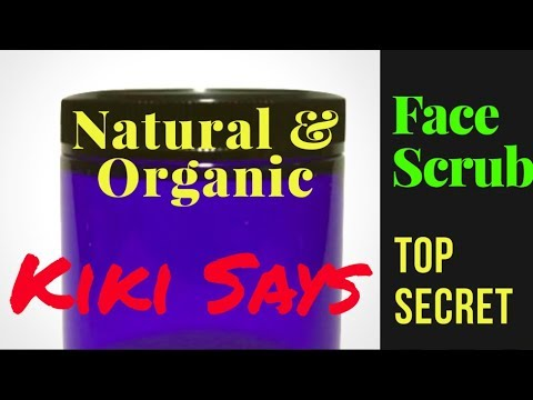 Lift Eyes and Cheeks -  Sculpting Scrub - Easy Organic Tutorial