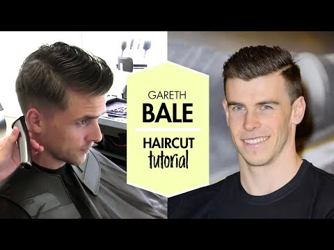 Gareth Bale men footballer haircut and hair styling tutorial | By Vilain