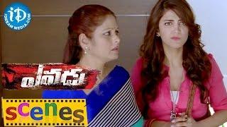 Yevadu Movie Scenes || Shruti Haasan at Ram Charan House to Meet Jayasudha Comedy Scene - IDREAMMOVIES