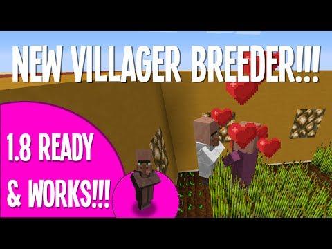 1.8 New Auto Villager Breeder!!! - Tutorial - Working!