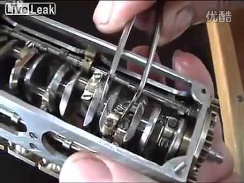 handmade mini V12 engine
