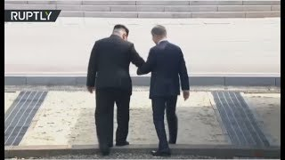 Moon Jae-in & Kim Jong Un arrive at border village for historic summit - RUSSIATODAY