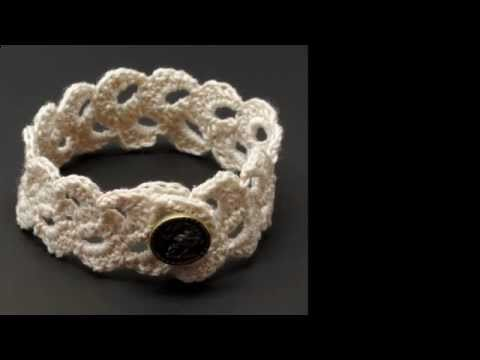 How to Crochet a Lace Scallop Trim #2 by Gwen Fisher with Doceri Software
