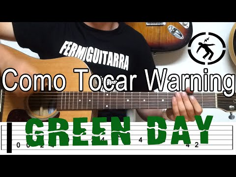 Como Tocar Warning de Green Day - Tutorial Fácil en guitarra acústica