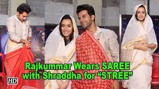 "Rajkummar Wears SAREE with Shraddha for ""STREE"" - BOLLYWOODCOUNTRY"