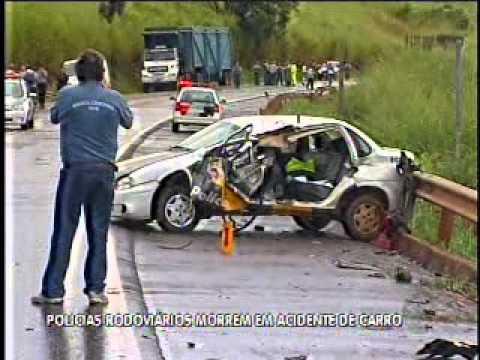 Policias Rodoviários morrem em acidente de carro
