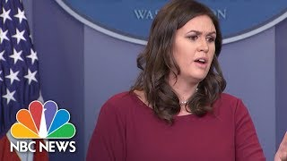 White House Accuses Reporters Of 'Purposefully Misleading' The Country | NBC News - NBCNEWS
