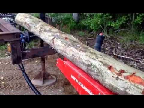 Homemade logtable for firewood processor, 2nd testrun