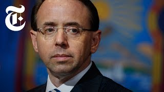 How Rosenstein Protects Mueller From Trump | NYT News - THENEWYORKTIMES