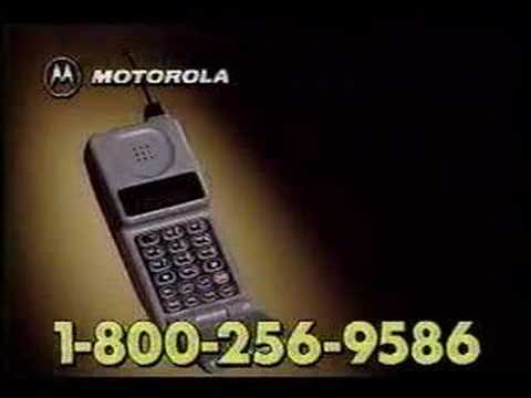 Early Motorola Flip Phone commercial