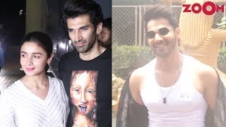 Bollywood Celebs spotted at Kalank special screening | Varun Dhawan poses poolside - ZOOMDEKHO