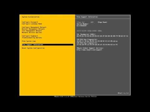 VMware ESXi Direct Console User Interface (DCUI) Overview