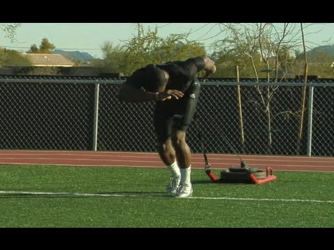 Demaryius Thomas Weighted Sled Drives