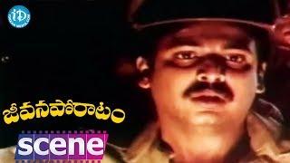 Jeevana Poratam Movie Scenes - Sarath Babu Doubts Vijayashanti || Rajinikanth || Radhika - IDREAMMOVIES