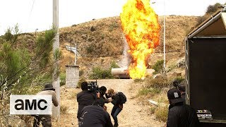 Fear the Walking Dead Season 3B 'Water Tanker Explosion' Behind the Scenes - AMC
