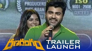 Sharwanand Speech At Ranarangam Trailer Launch | Tollywood News - TFPC