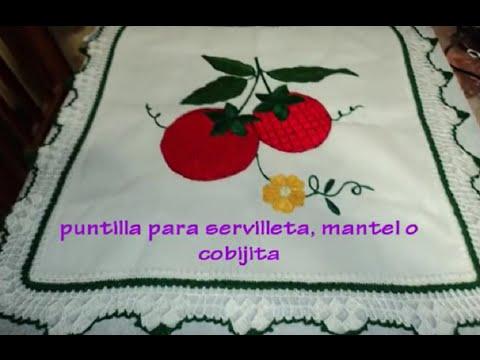 ORILLA PARA SERVILLETAS, MANTEL O COBIJA DE BEBE ((PARTE 1))