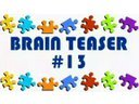 Video Brain Teaser #13