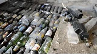 Заливка стяжки пола с стеклянными бутылками//Из райцентра в деревню