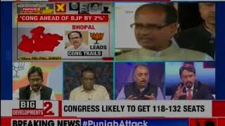 MP Elections 2018: Cfore TSG Opinion polls predicts 118-132 seats for Congress; 94-108 seats for BJP - NEWSXLIVE