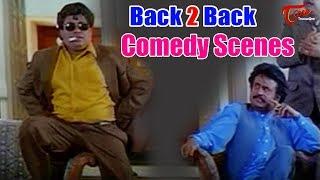 Rajinikanth & Senthil Back to Back Comedy Scenes | TeluguOne - TELUGUONE
