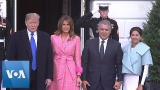 Trump Welcomes Colombian President Duque to White House - VOAVIDEO