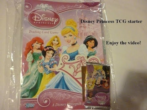 Topps Dinsey Princess Trading card game Starter pack opening with cards glitter card Belle Tangled