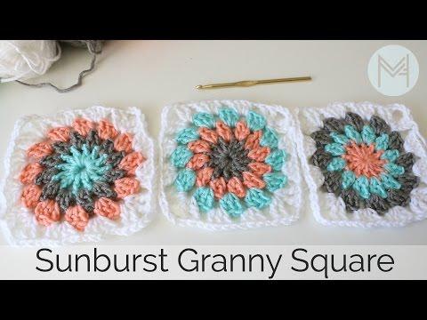 Crochet Sunburst Granny Square Tutorial