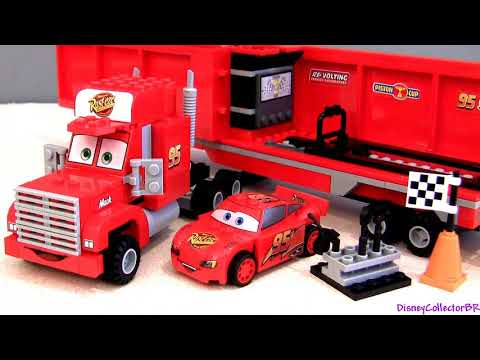 LEGO Cars 2 Mack's Team Truck 8486 Lightning McQueen & Mack Truck Hauler Disney Buildable Toys