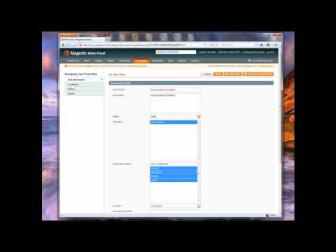 How create coupon codes in Magento