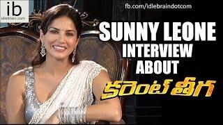 Sunny Leone interview about Current Theega - idlebrain.com - IDLEBRAINLIVE