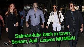 Salman-Iulia back in town, Sonam, Anil & Shilpa Leaves MUMBAI - IANSLIVE