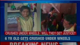 Hyderabad: 6-year-old girl killed after falling from school bus; crushed under its rear wheel - NEWSXLIVE