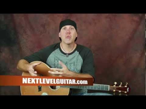 Learn Beginner acoustic guitar techniques lesson chord changing sound musical create melody