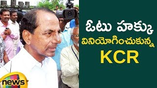 KCR Cast His Vote with his Wife in Gajwel | #TelanganaElections2018 | Mango News - MANGONEWS