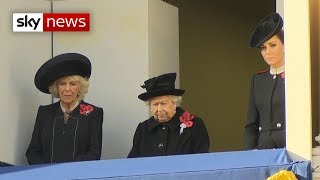 UK marks 100th anniversary of the Armistice - SKYNEWS