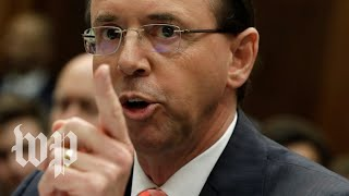 Rod J. Rosenstein holds a news conference - WASHINGTONPOST