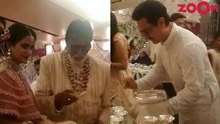 Amitabh Bachchan & Aamir Khan serve guests at Isha Ambani's wedding & more - ZOOMDEKHO