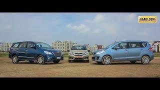 Honda Mobilio Vs Maruti Ertiga Vs Toyota Innova - Maruti Videos