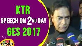 KTR Speech On Second Day Of Hyderabad GES 2017  | Mango News - MANGONEWS