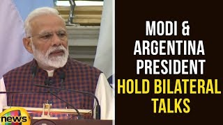 PM Modi, Argentina President Mauricio Macri Hold Bilateral Talks At Hyderabad House | Mango News - MANGONEWS