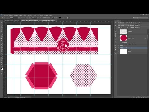 Tutorial Photoshop // Cajitas para regalo by @KarmenQuesada