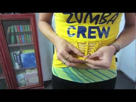 Zumbawear Cut & Create - Front Weave Top