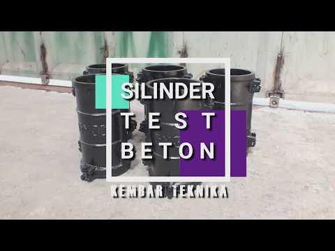 Proses Pembuatan Cetakan Benda Uji Beton Silinder